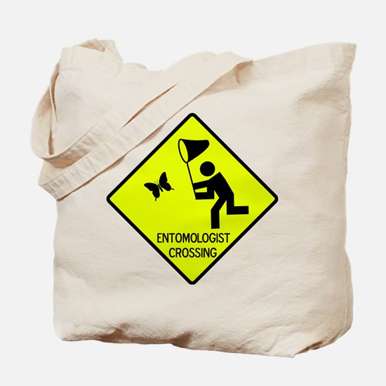 Entomolgist Crossing Tote Bag