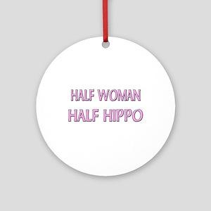 Half Woman Half Hippo Ornament (Round)