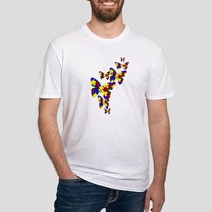 Burst of butterflies Fitted T-Shirt