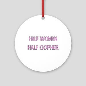 Half Woman Half Gopher Ornament (Round)