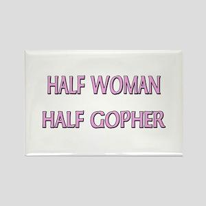 Half Woman Half Gopher Rectangle Magnet