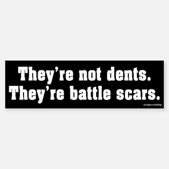 They're Not Dents Bumper Bumper Bumper Sticker