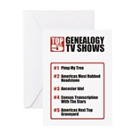 Genealogy TV Shows Birthday Card