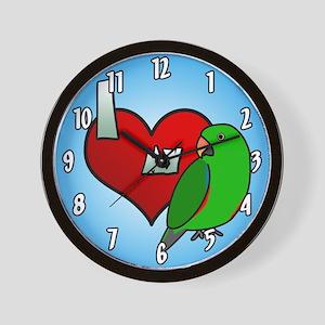 I Love My Vosmaeri Eclectus Clock (Male)