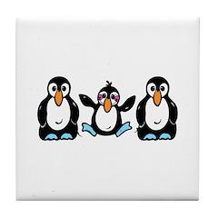 Penguin Love Tile Coaster