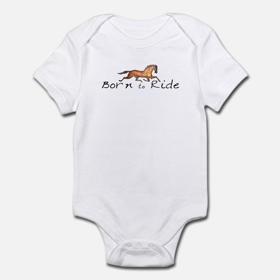 Born to Ride Horses Infant Bodysuit