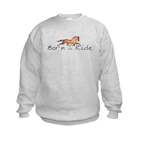 Born to Ride Horses Kids Sweatshirt
