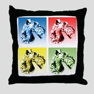 Kerry Blue Pop Art Throw Pillow