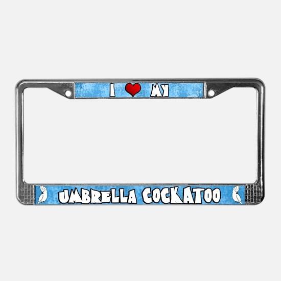 Love Umbrella Cockatoo License Plate Frame Cartoon
