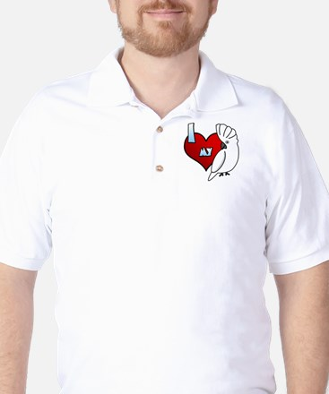 Love Umbrella Cockatoo Golf Shirt