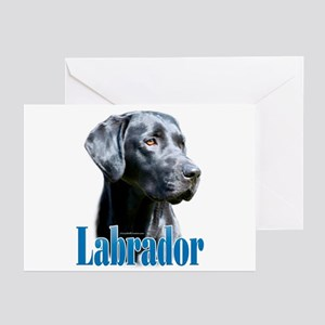 Lab(black) Name Greeting Cards (Pk of 20)