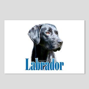 Lab(black) Name Postcards (Package of 8)