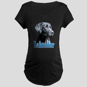 Lab(black) Name Maternity Dark T-Shirt