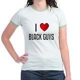 I love black girls Jr. Ringer T-Shirt