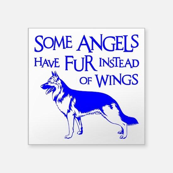 "SHEPHERD ANGEL Square Sticker 3"" x 3"""