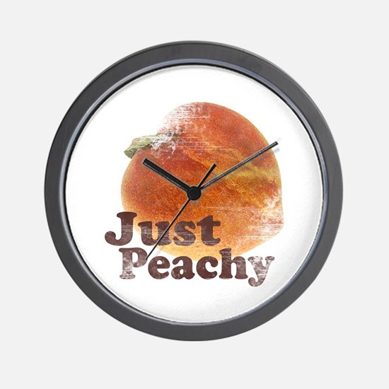 Vintage Just Peachy Wall Clock