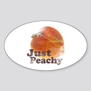 Vintage Just Peachy Oval Sticker