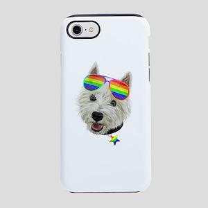 Gay Pride Westie LGBT Dog Su iPhone 8/7 Tough Case