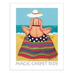 Magic Carpet Ride - Beach Small Poster
