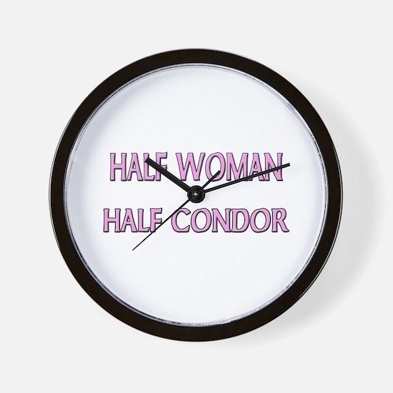 Half Woman Half Condor Wall Clock