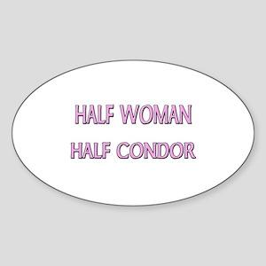 Half Woman Half Condor Oval Sticker