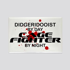 Didgeridooist Cage Fighter by Night Rectangle Magn