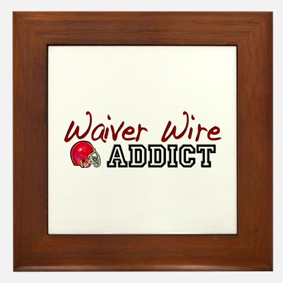 Waiver Wire Addict Framed Tile