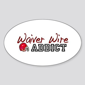 Waiver Wire Addict Oval Sticker