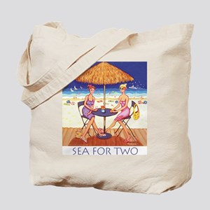 Sea for Two - Beach Tote Bag