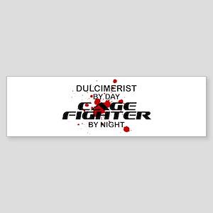Dulcimerist Cage Fighter by Night Bumper Sticker
