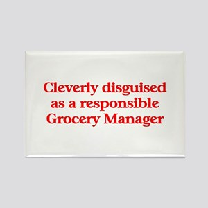 Grocer Store Mgr Rectangle Magnet (10 pack)