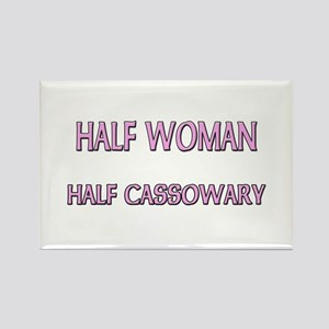 Half Woman Half Cassowary Rectangle Magnet