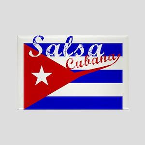 Salsa Cubana Rectangle Magnet