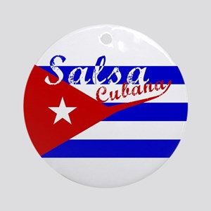 Salsa Cubana Ornament (Round)