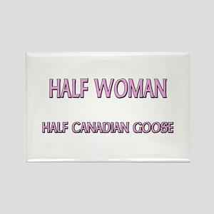 Half Woman Half Canadian Goose Rectangle Magnet