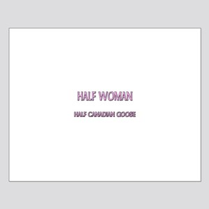 Half Woman Half Canadian Goose Small Poster