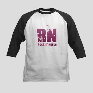 RN - Rockin' Nurse Pink Baseball Jersey