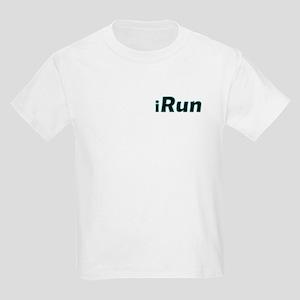 iRun, aqua trim (front & back) Kids Light T-Shirt