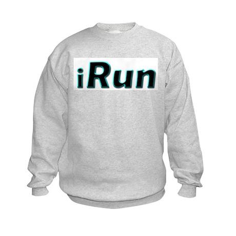 iRun, aqua trim Kids Sweatshirt