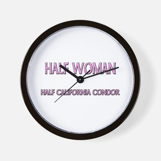 Half Woman Half California Condor Wall Clock