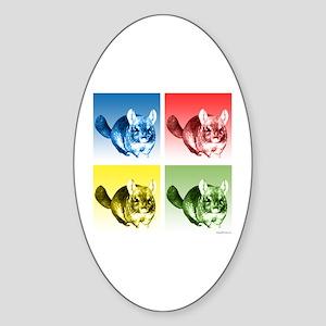 Chinchilla Pop Oval Sticker