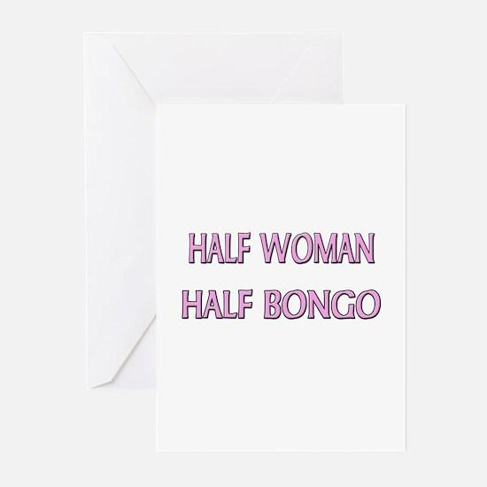 Half Woman Half Bongo Greeting Cards (Pk of 10)