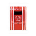Fire Alarm Rectangle Sticker 10 pk)
