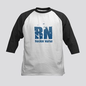 RN - Rockin' Nurse Blue Baseball Jersey
