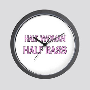 Half Woman Half Bass Wall Clock