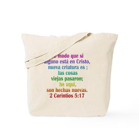 2 Corinthians 5:17 Spanish Tote Bag