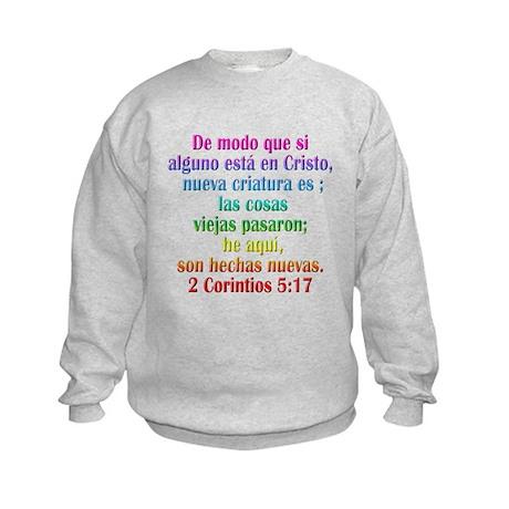 2 Corinthians 5:17 Spanish Kids Sweatshirt