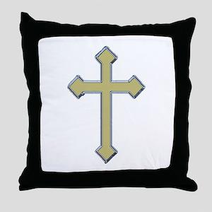 Gold Cross - Throw Pillow