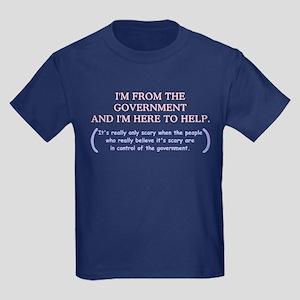 I'm Here To Help Kids Dark T-Shirt