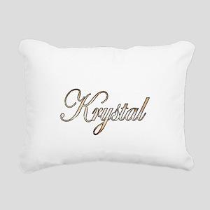 Gold Krystal Rectangular Canvas Pillow